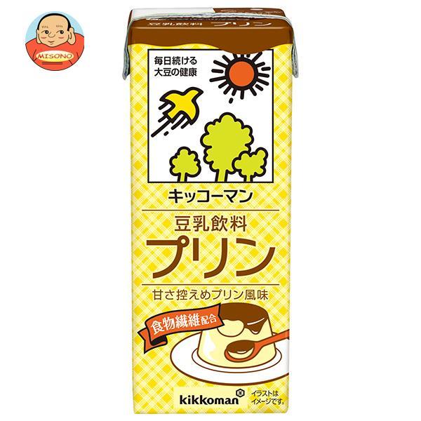 キッコーマン 豆乳飲料 プリン 200ml紙パック×18本入