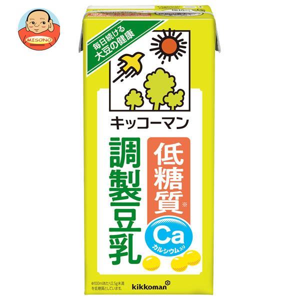 キッコーマン 低糖質 調製豆乳 1000ml紙パック×12(6×2)本入