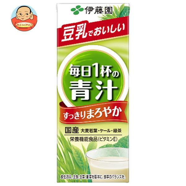 伊藤園 ごくごく飲める毎日1杯の青汁 まろやか豆乳ミックス 200ml紙パック×24本入