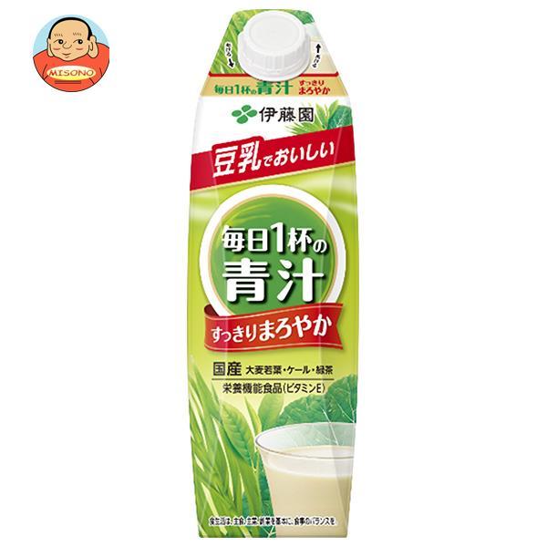 伊藤園 ごくごく飲める毎日1杯の青汁 まろやか豆乳ミックス 1000ml紙パック×6本入