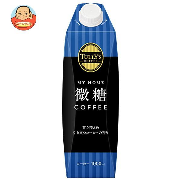 伊藤園 TULLY'S COFFEE(タリーズコーヒー) 微糖 1L紙パック×6本入