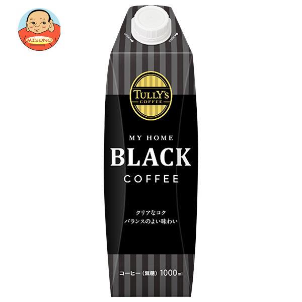 伊藤園 TULLY'S COFFEE(タリーズコーヒー) ブラック 1L紙パック×6本入