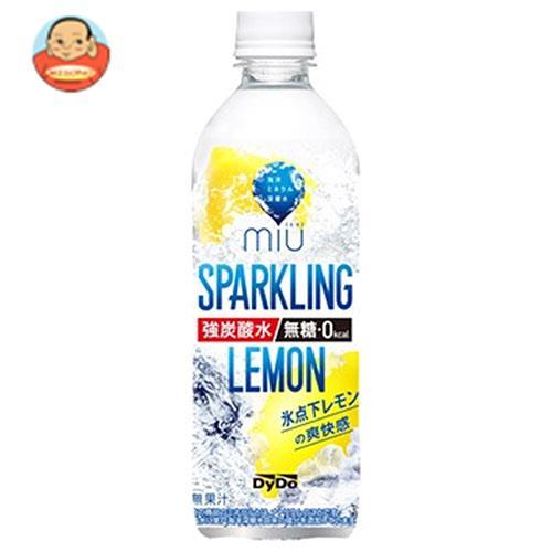 ダイドー miu ミウ スパークリング レモン 500mlペットボトル×24本入
