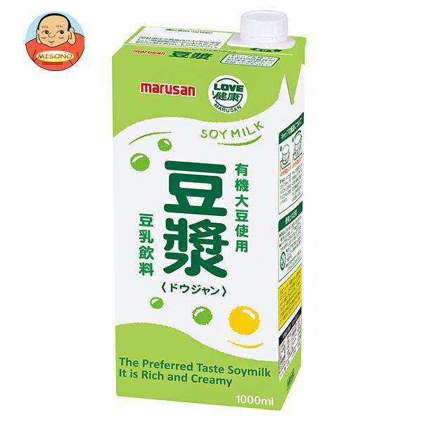 マルサンアイ 豆乳飲料 豆ジャン 1000ml紙パック×6本入