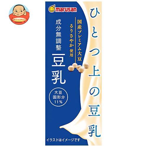 マルサンアイ ひとつ上の豆乳 成分無調整豆乳 200ml紙パック×24本入