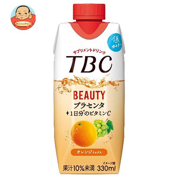 森永乳業 TBC プラセンタ+ビタミンC オレンジミックス(プリズマ容器) 330ml紙パック×12本入