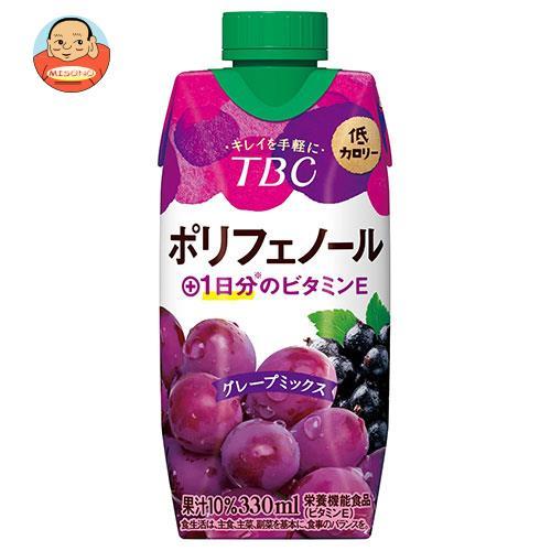 森永乳業 TBC ポリフェノール+1日分のビタミンE グレープミックス 330ml紙パック×12本入