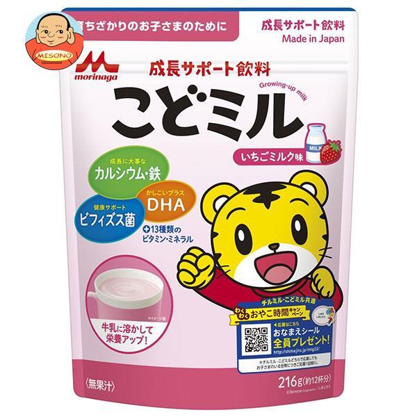 森永乳業 成長サポート飲料 こどミル いちごミルク味 216g×12袋入