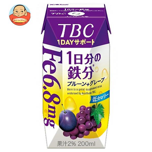森永乳業 TBC 1DAYサポート 1日分の鉄分(プリズマ容器) 200ml紙パック×24本入