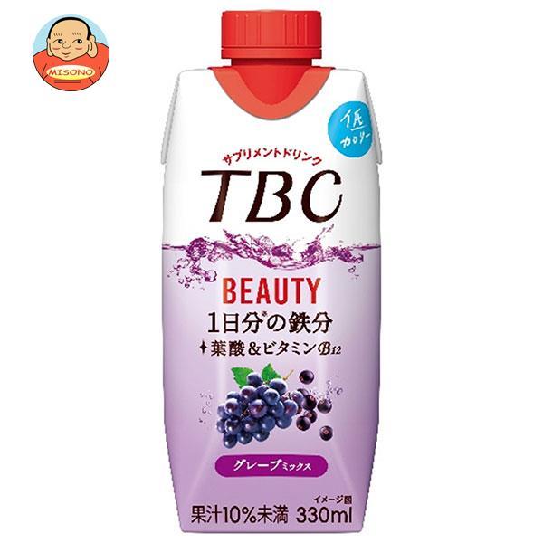 森永乳業 TBC 鉄分+葉酸 ピーチミックス(プリズマ容器) 330ml紙パック×12本入