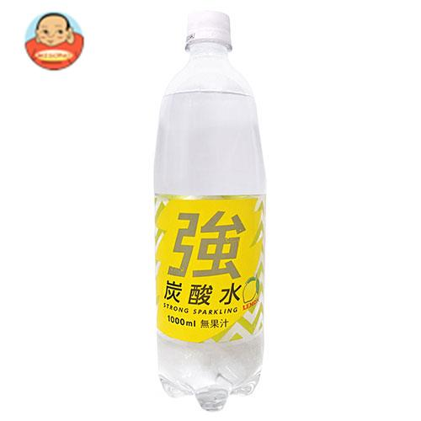 友桝飲料 強炭酸水 レモン(K) 1000mlペットボトル×15本入
