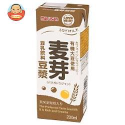 マルサンアイ 豆乳飲料 麦芽豆ジャン 200ml紙パック×24本入
