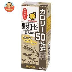 マルサンアイ 豆乳飲料 麦芽コーヒー カロリー50%オフ 200ml紙パック×24本入