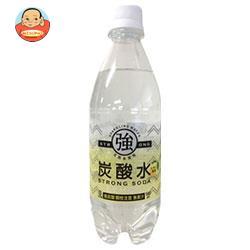 友桝飲料 強炭酸水レモン 500mlペットボトル×24本入