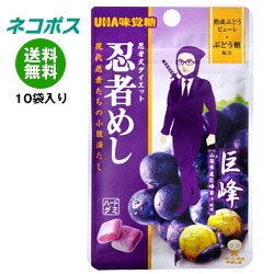 【全国送料無料】【ネコポス】UHA味覚糖 忍者めし (巨峰) 20g×10袋入