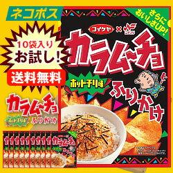 【全国送料無料】【ネコポス】ニチフリ食品 ニチフリ カラムーチョホットチリ味ふりかけ 27g×10袋入