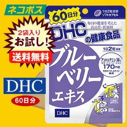 【全国送料無料】【ネコポス】【2袋】DHC ブルーベリーエキス 60日分 120粒×2袋入