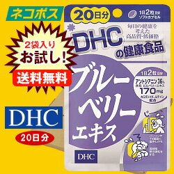 【全国送料無料】【ネコポス】【2袋】DHC ブルーベリーエキス 20日分 40粒×2袋入