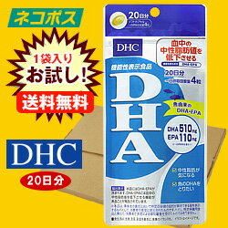 【全国送料無料】【ネコポス】DHC DHA 20日分【機能性表示食品】 80粒×1袋入