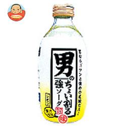 木村飲料 カクテス 男のちょい割る強ソーダレモン 300ml瓶×24本入