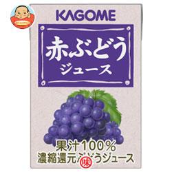 カゴメ 赤ぶどうジュース100ml紙パック×36(18×2)本入