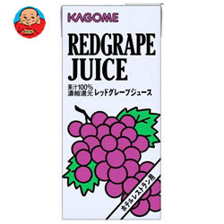 カゴメ レッドグレープジュース(ホテルレストラン用) 1L紙パック×12(6×2)本入