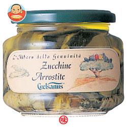 モンテ物産 チェルサヌス ズッキーニ・アッロスティーティ ひまわり油漬け 330g瓶×6本入