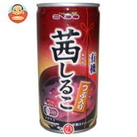 遠藤製餡 有機茜しるこ 190g缶×30本入