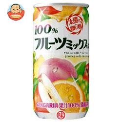 サンガリア 100% フルーツミックスジュース 190g缶×30本入