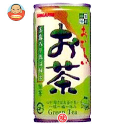 サンガリア 一休茶屋 おいしいお茶 190g缶×30本入