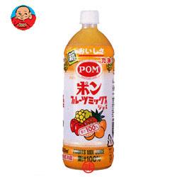 えひめ飲料 POM(ポン) フルーツミックスジュース 100% 1L(1000ml)PET×12(6×2)本入