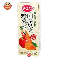 えひめ飲料 POM(ポン) 国産果実野菜ジュース 200ml紙パック×24(12×2)本入