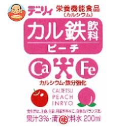 南日本酪農協同(株) デーリィ カル鉄飲料 ピーチ 200ml紙パック×24本入
