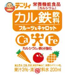 南日本酪農協同(株) デーリィ カル鉄飲料 フルーツ&キャロット 200ml紙パック×24本入