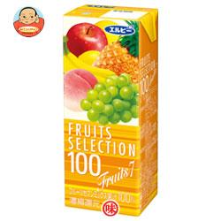 エルビー フルーツセレクション フルーツセブン100% 200ml紙パック×24本入