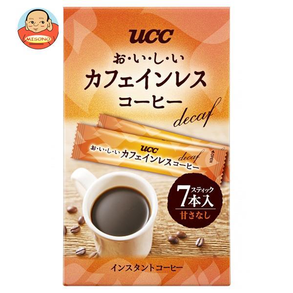 UCC おいしいカフェインレスコーヒー スティック 7P×24箱入