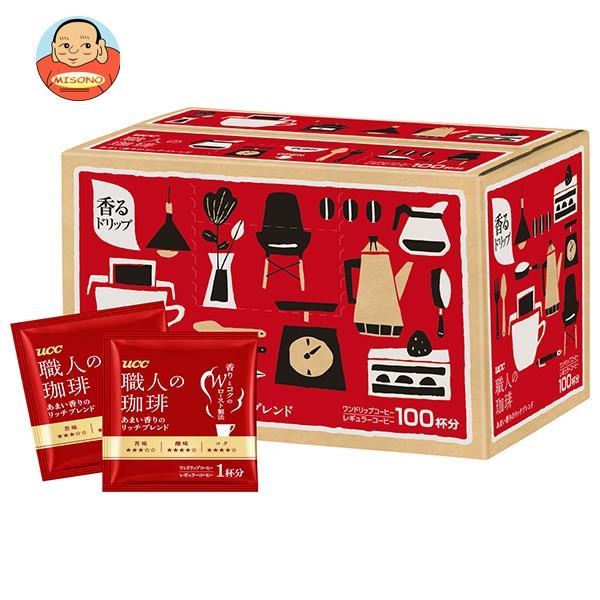 UCC 職人の珈琲 ドリップコーヒー あまい香りのモカブレンド 100P×1箱入