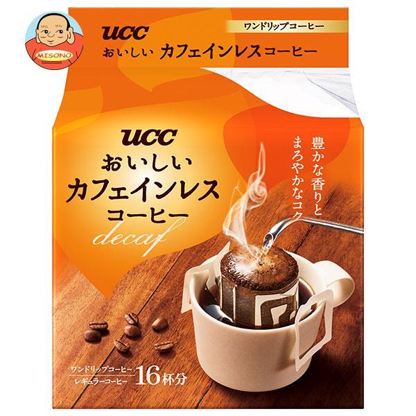 UCC おいしいカフェインレスコーヒー ドリップコーヒー 18P×12袋入