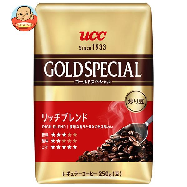 UCC 炒り豆 ゴールドスペシャル リッチブレンド(豆) 360g袋×12袋入