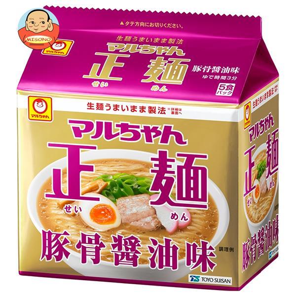 東洋水産 マルちゃん正麺 豚骨醤油味 (101g×5食)×6個入