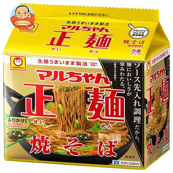 東洋水産 マルちゃん正麺 ソース焼そば 5食パック (110g×5食)×6個入