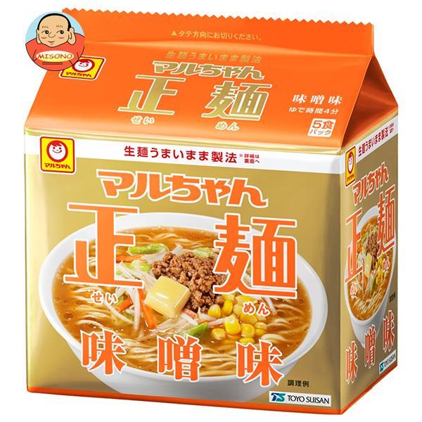 東洋水産 マルちゃん正麺 味噌味 (108g×5食)×6個入