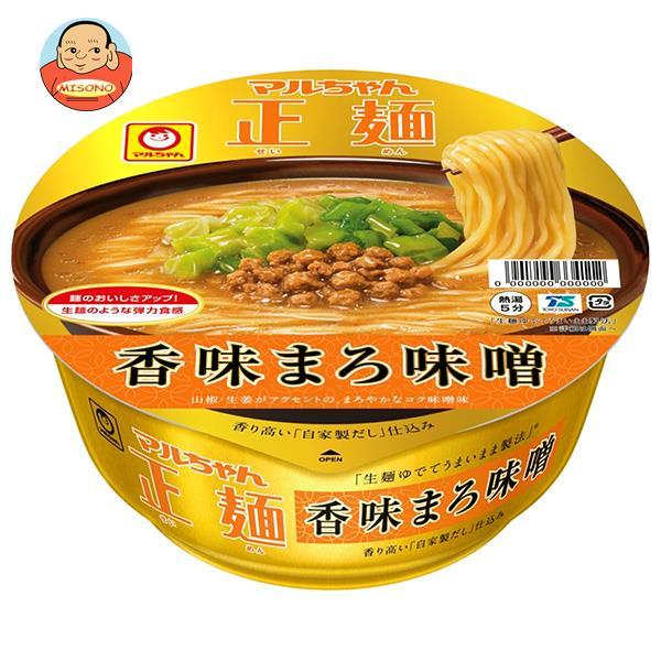 東洋水産 マルちゃん正麺 カップ 香味まろ味噌 129g×12個入