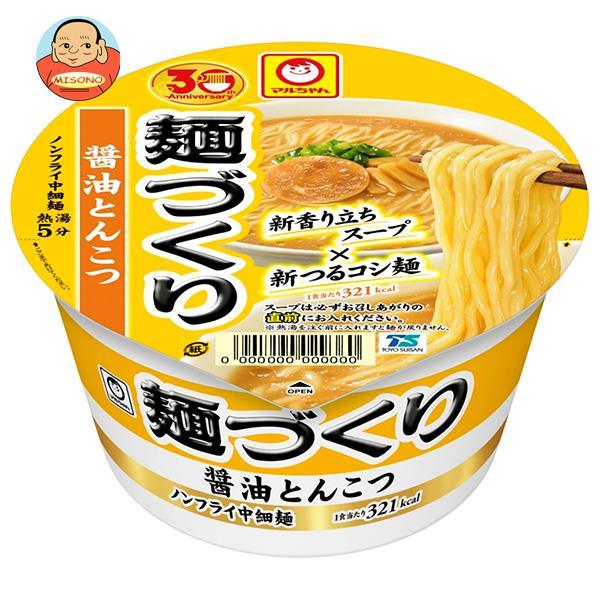 東洋水産 マルちゃん 麺づくり 醤油とんこつ 89g×12個入