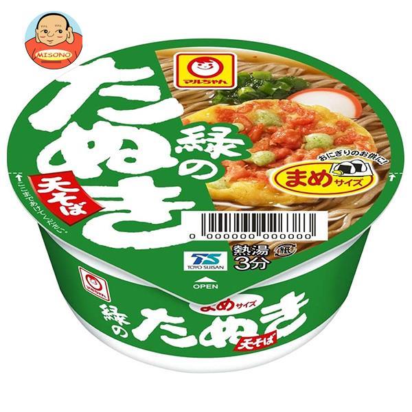 東洋水産 マルちゃん 緑のまめたぬき天そば(西向け) 45g×24(12×2)個入