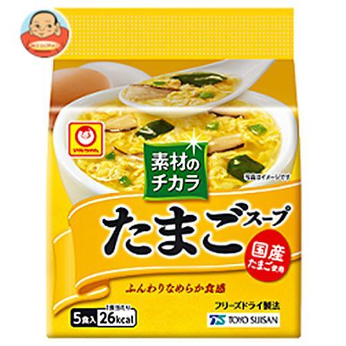 東洋水産 マルちゃん 素材のチカラ たまごスープ (6.3g×5食)×6袋入