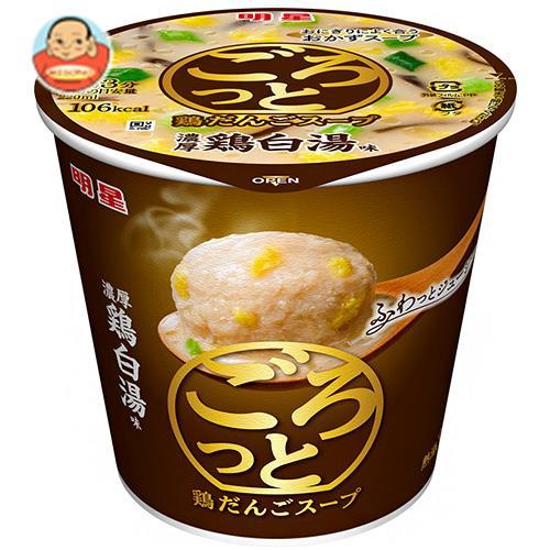 明星食品  ごろっと鶏だんごスープ 濃厚鶏白湯味 24g×24(6×4)個入