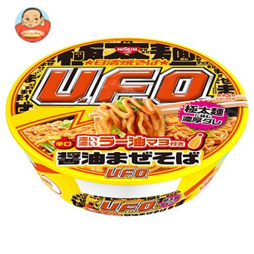 日清食品 日清焼そばU.F.O. 濃い濃いラー油マヨ付き 醤油まぜそば 113g×12個入