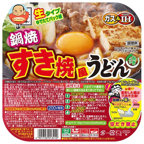 五木食品 鍋焼すき焼風うどん 235g×18個入