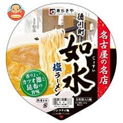 寿がきや 徳川町如水 塩ラーメン 107g×12個入